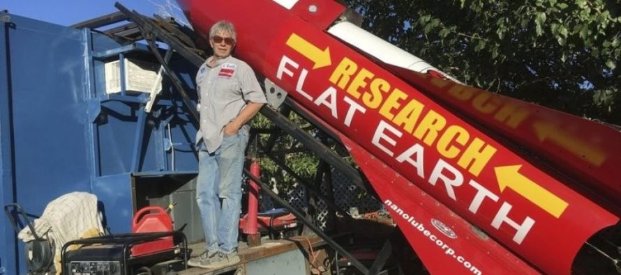 Man Launching Himself 1,800 Feet High in Homemade Rocket to Prove the Earth is Flat [VIDEO]