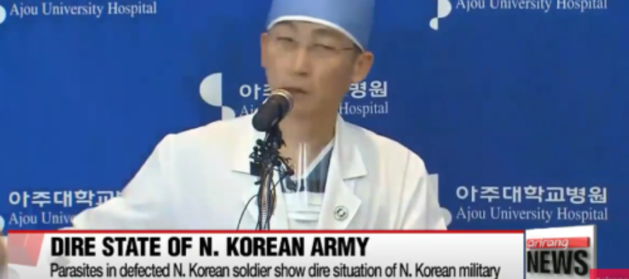 Defecting North Korean Soldier Riddled With Giant Worms
