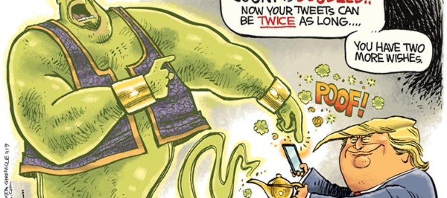 Trump Twitter (Cartoon)