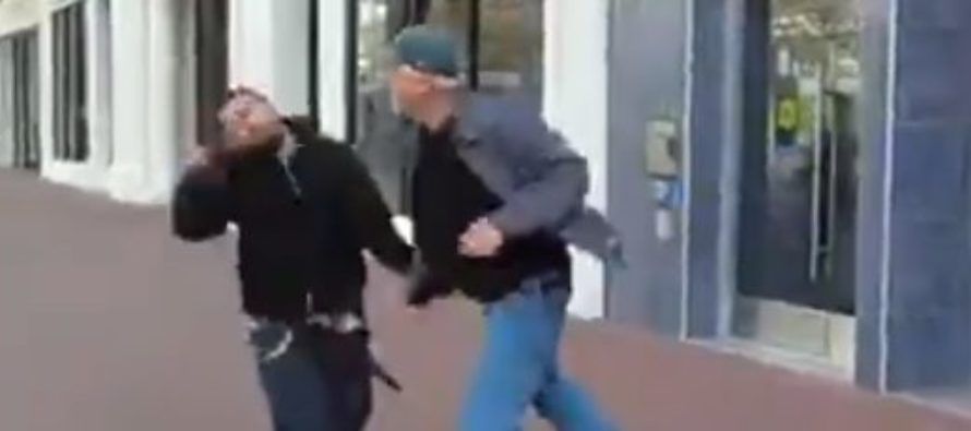 WATCH: Thug Attacks No-Nonsense Grandpa – Gets KNOCKED OUT With Single Punch