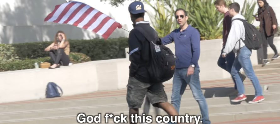 DISGRACEFUL VIDEO: Berkeley students give middle finger to U.S. flag, praise ISIS flag [VIDEO]