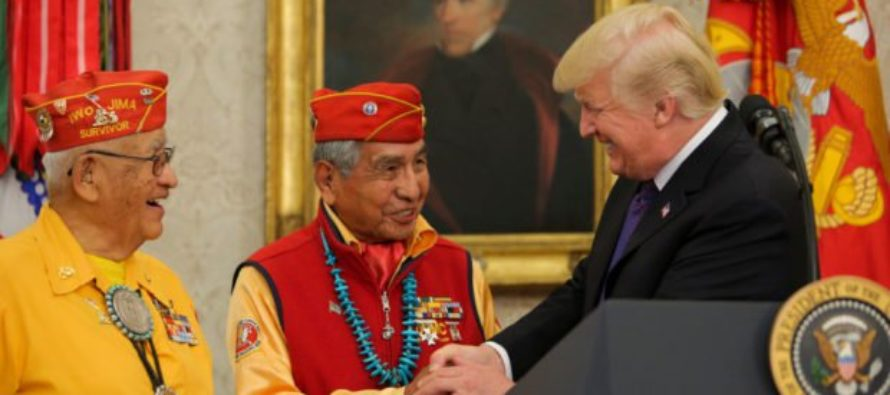 Navajo Code Talker Fires Back at People Offended by Trump's 'Pocahontas' Comment With a Scorcher