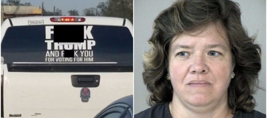 The Woman Driving With a Huge 'F**k Trump' Sticker on Her Truck Gets a Big Dose of Karma [VIDEO]