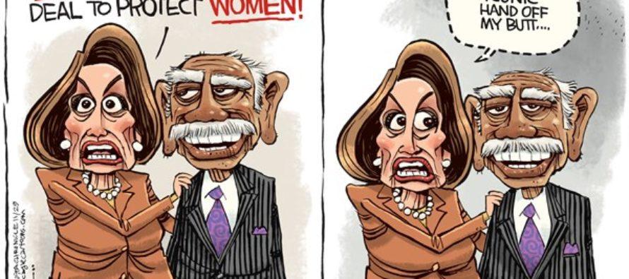 Pelosi and Conyers (Cartoon)
