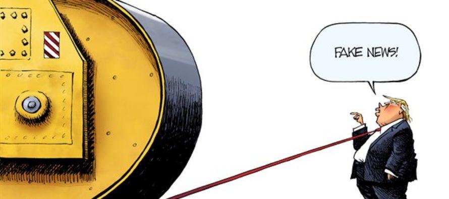Russia Probe Steamroller (Cartoon)