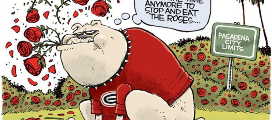 UGA Bulldogs Rose Bowl LOCAL (Cartoon)