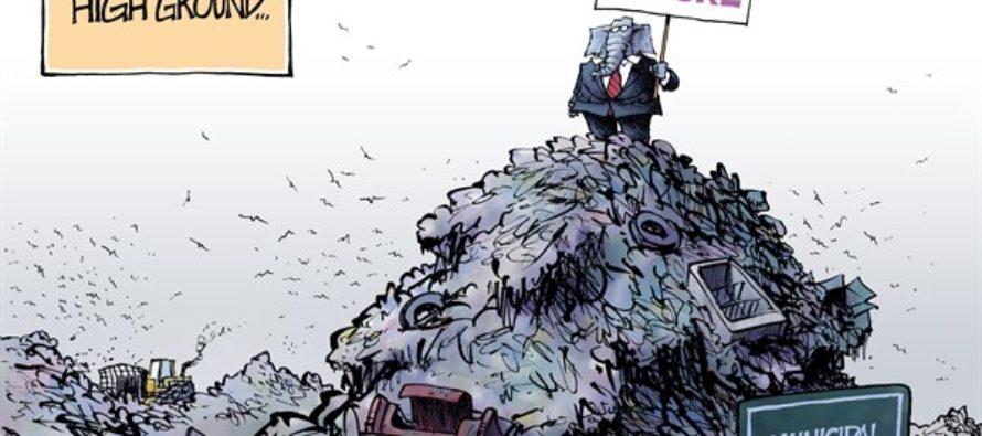 GOP Moral High Ground (Cartoon)