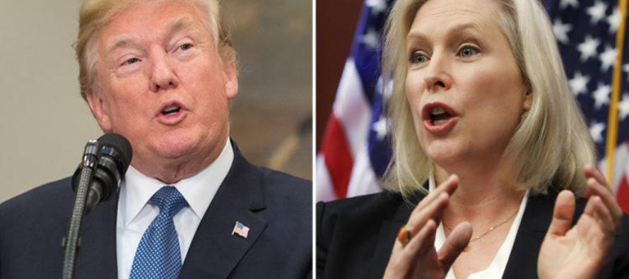 Trump EVISCERATES 'Flunky' Gillibrand After She Demands He Resign [VIDEO]