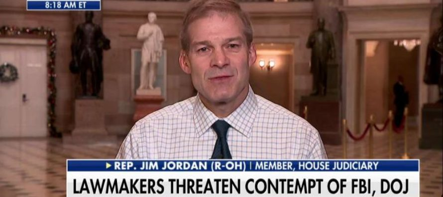 GOP Rep Jordan: There was 'Orchestrated Plan' Within DOJ, FBI to Prevent Trump From Becoming POTUS [VIDEO]