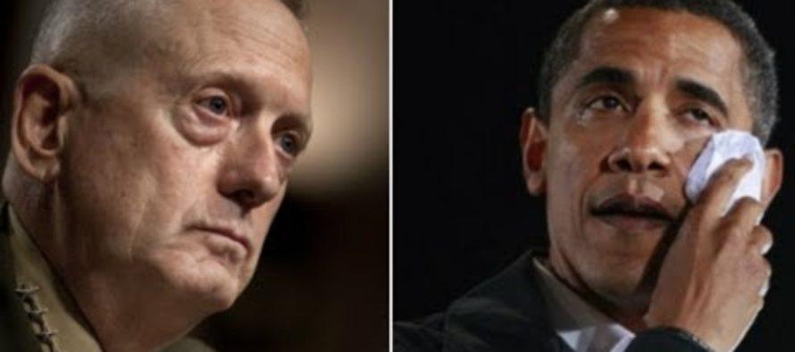 Fed-Up General 'Mad Dog' Mattis DROPS THE HAMMER On Barack Obama