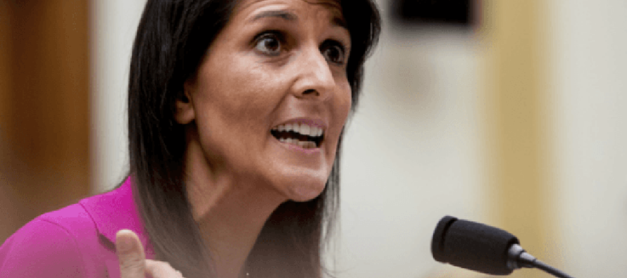 Haley Drops the Hammer on UN: 'The US Will Not Be Told by Any Country Where We Can Put Our Embassy'