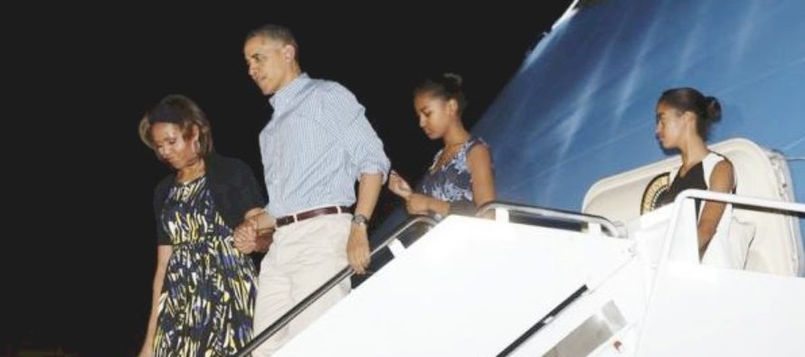 JUST IN: Final Tally Of Obama Family's Taxpayer-Funded Travel Leaks