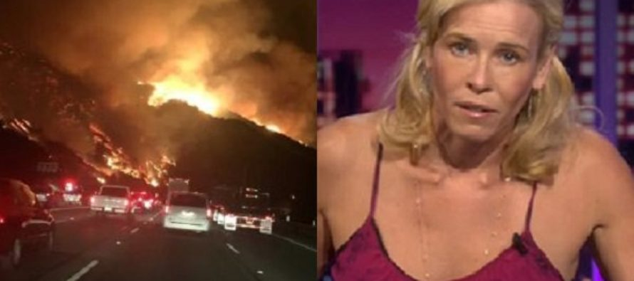Chelsea Handler BLAMES TRUMP For Wildfire That Nearly Burned Her Mansion