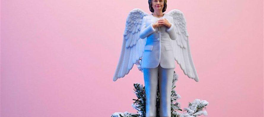 Moonbats Market Hillary Clinton Resistmas Tree Topper
