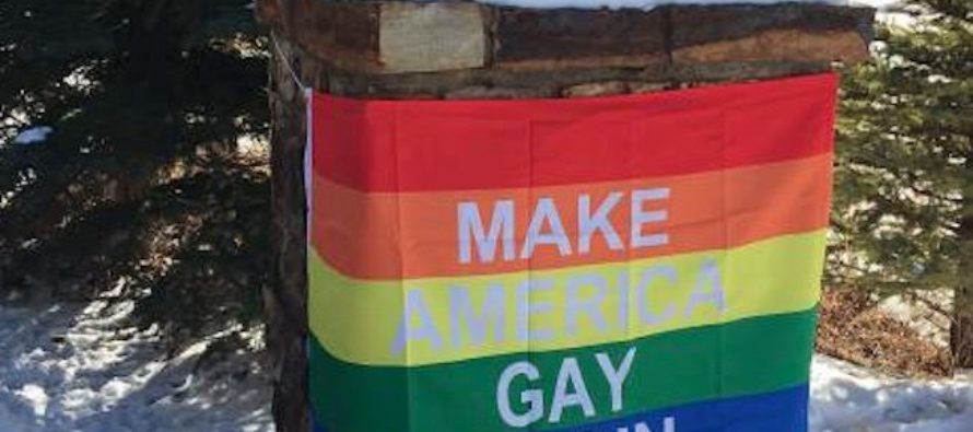 Neighbors Of VP Pence Hang 'Make America Gay Again' Banner Just For Him