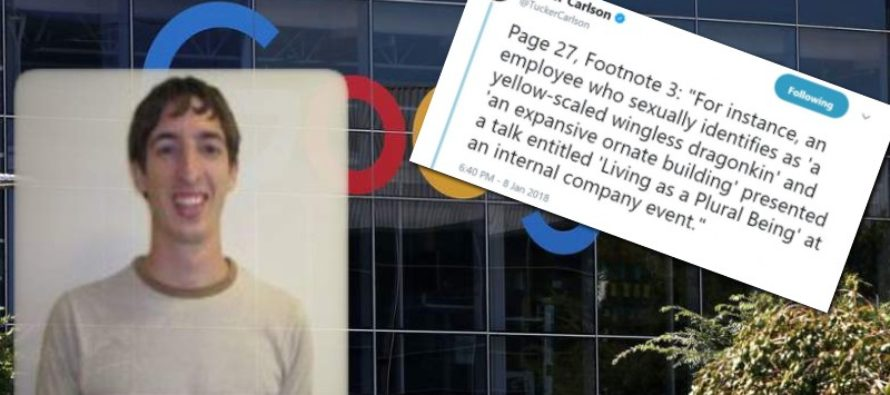 "James Damore Lawsuit: Google Employee Who Identifies As ""Expansive Ornate Building"" Gave Talk At Company Event"