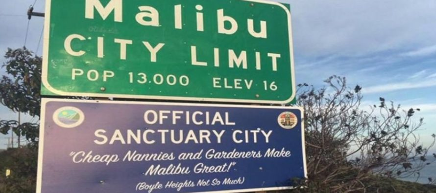 PHOTOS: Sanctuary State Signs Show Up on California Highways for the New Year: 'Felons, Illegals and MS13 Welcome!'