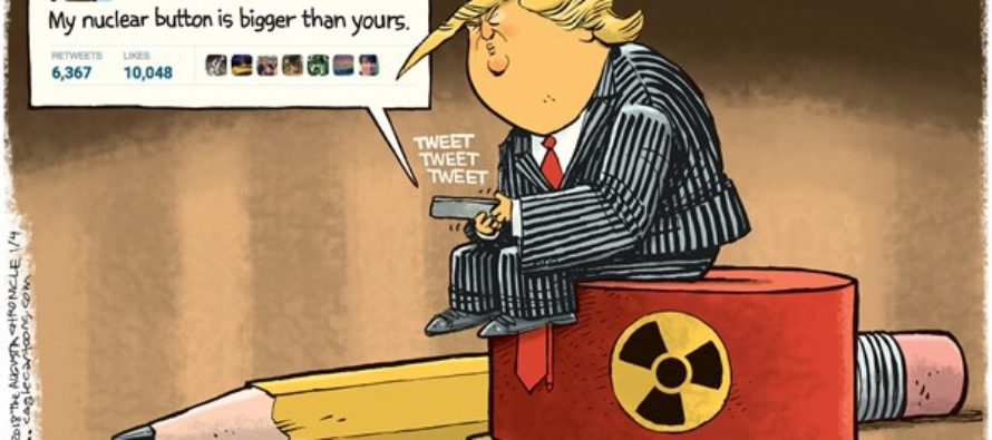 Trump Nuke Button (Cartoon)