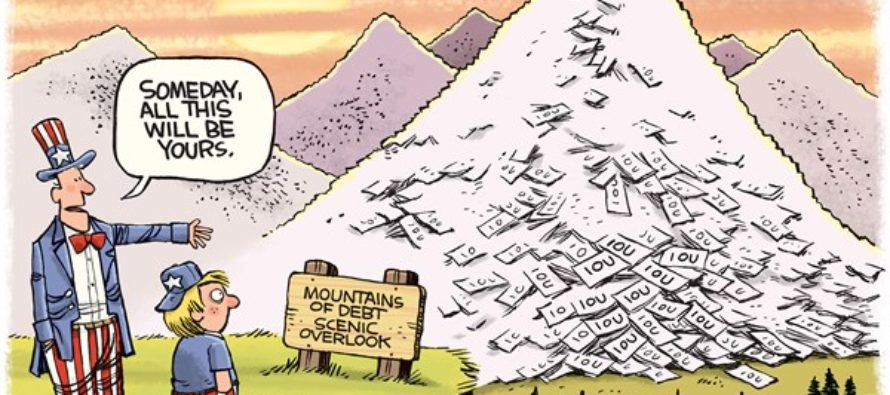 Mountains of Debt (Cartoon)