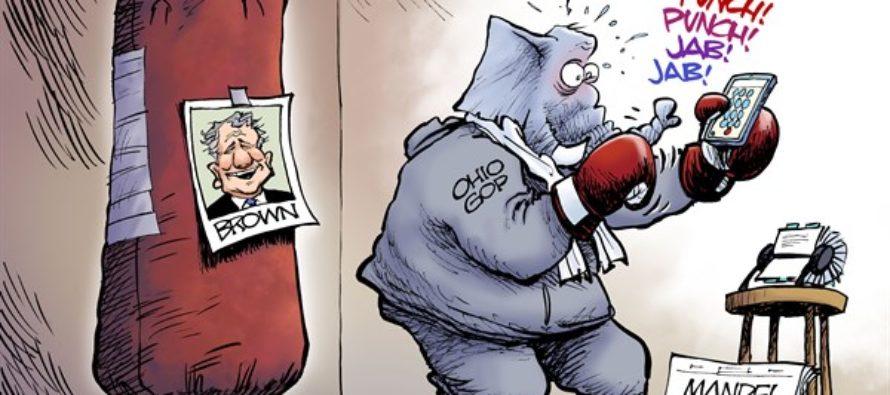 LOCAL OH Josh Mandel Drops Out (Cartoon)