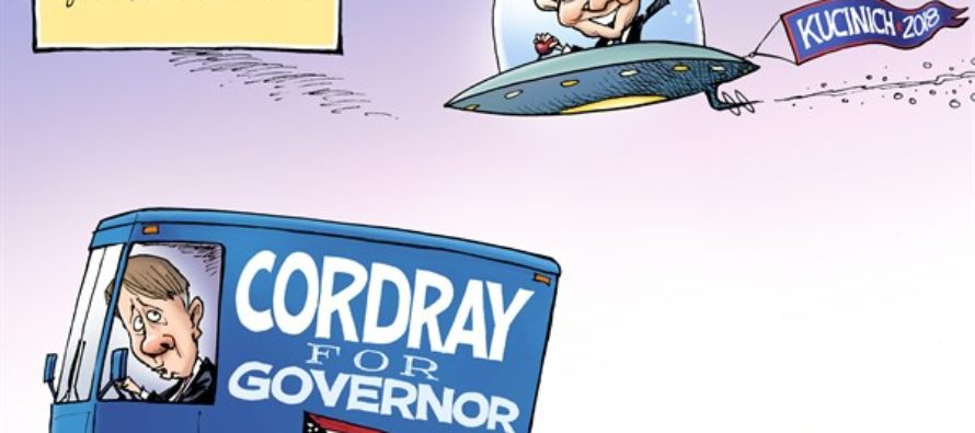 LOCAL OH Kucinich and Cordray (Cartoon)