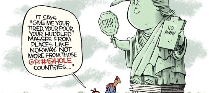 Trump Liberty (Cartoon)