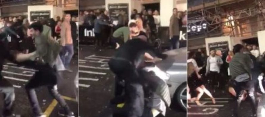 TKO! 2 Guys Go After Bouncer Outside Night Club and He Teaches Them A Lesson in EPIC Video Footage
