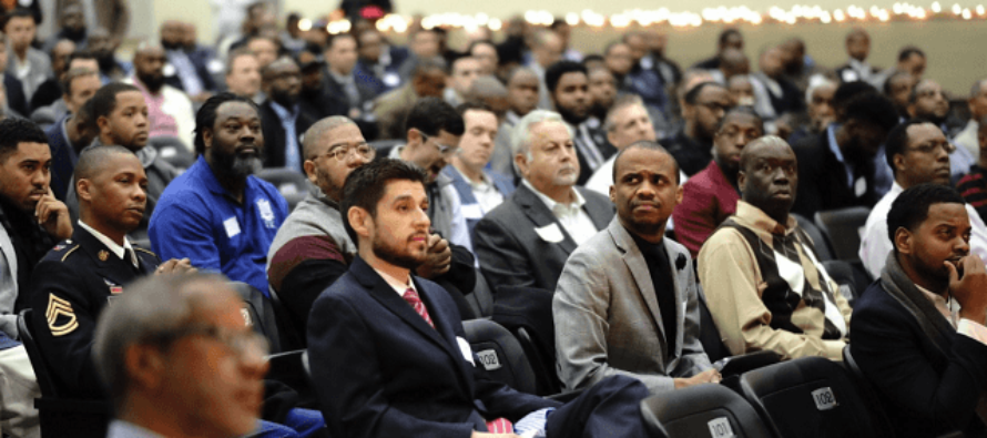 Hundreds of Men Show Up to Mentor Boys at Texas School, No One Expected This!
