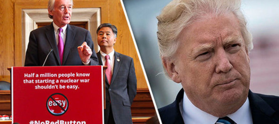 Freaked Out Democrats Propose To Take Away President Trumps Executive Power of 'First Strike'