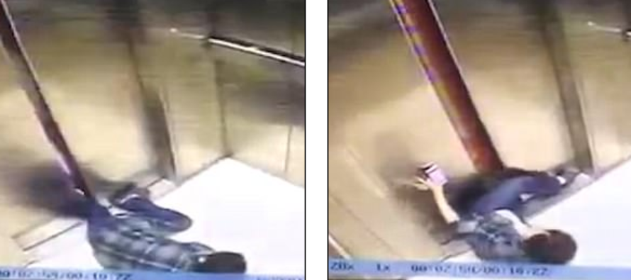 Woman staring at her phone has her leg cut off after getting stuck between elevator doors