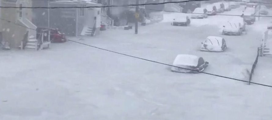 BREAKING: Rivers of Floodwater FREEZE OVER & Trap Dozens of Cars as Boston Storm Claims Dozens of Lives [VIDEO]