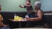Baby Gangster: 4 Year Old Boy Curses Out His Mom & Grandmother — Then Throws Up Gang Sign